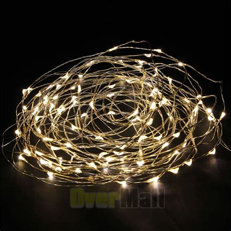 5pcs warm white 10m 100led led copper wire led string