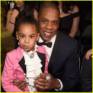 Beyonce & Jay Z Sit Court Side with Blue Ivy at NBA All ...