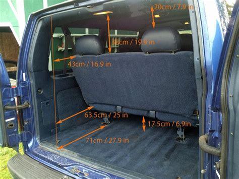 gmc safari astro van interior measurements  minivan