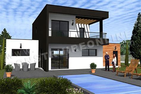 maison 3 chambres plain pied vente de plan de maison contemporaine