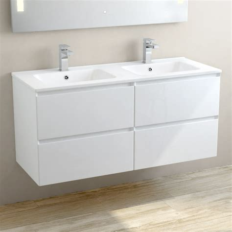 meuble vasque c 233 ramique 120 cm blanc brillant one