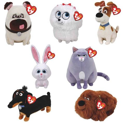 Adopting a pet featured in the secret life of pets. Set of 7 Pcs 20cm/7.87inch TY Cute Beanie Boos Big Eyes ...