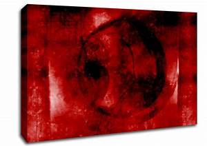 Red Planet Abstract Canvas Stretched Canvas