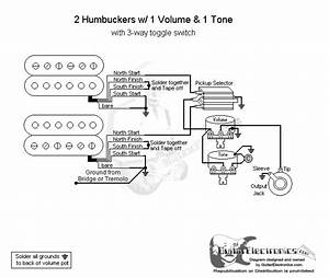 Wiring Diagram 2 Gibson Humbuckers With 3 Way Toggle Switch