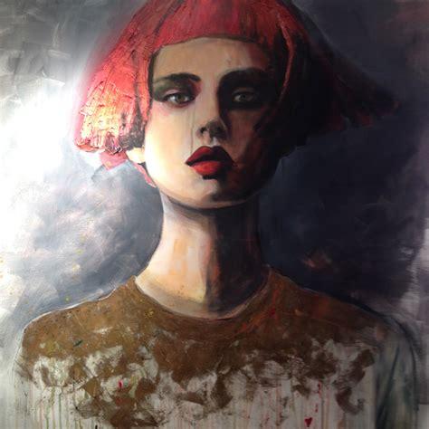 peinture sur toile femme moderne monde 233 trange pull dor 233