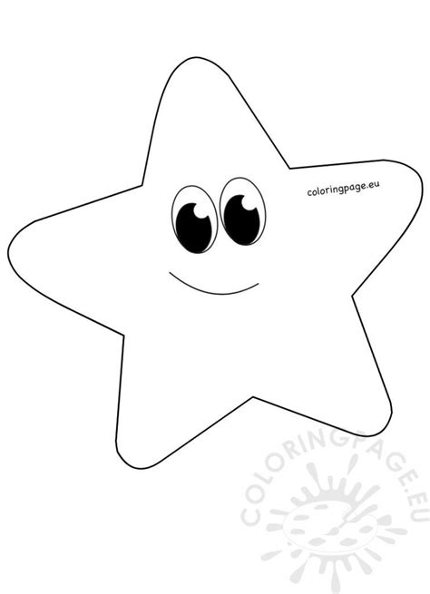 whimsical cartoon star clipart printable coloring page