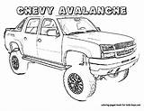 Coloring Truck Pages Chevy Boys Trucks Printable Cars Sheets Avalanche Sheet Chevrolet Pickup Colouring Swat Adult Printables Monster Colors Books sketch template