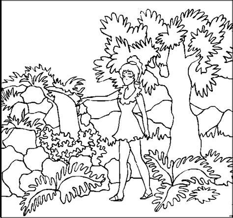Maedchen Im Garten Ausmalbild & Malvorlage (kinder