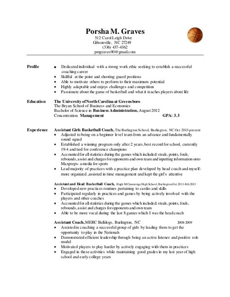 basketball resume resume ideas