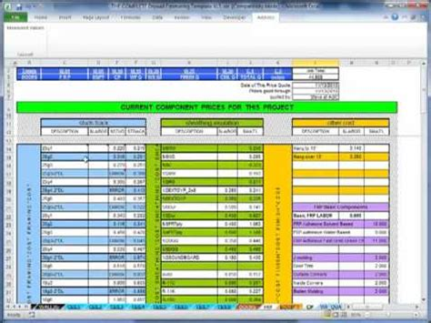 Drywall Bid Template by The Complete Drywall Estimating Template