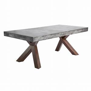 Table Beton Bois : warwick concrete rectangular dining table buy other tables ~ Premium-room.com Idées de Décoration