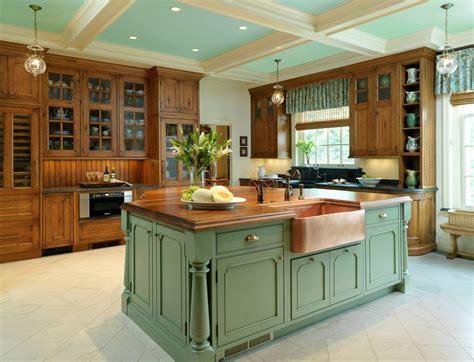 invigorating ways  decorate  green kitchen cabinets