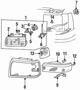 Genuine Ford Headlamp Assembly F2tz