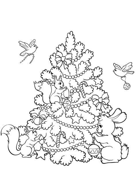Kleurplaat Kerstboom Met Pakjes by Kleurplaat Kerstboom