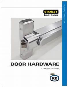 Stanley Security Door Hardware Catalog K2 Commercial