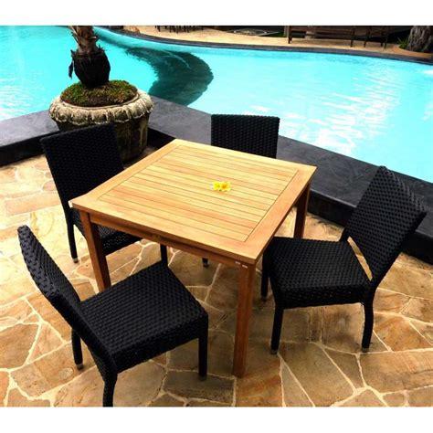 salon de jardin 4 chaises r 195 sine avec table carr 195 e en teck avec confortable int 233 rieur