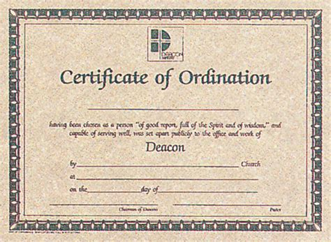ordination certificate template certificate of ordination for deacon certificate deacon ordination christian supply