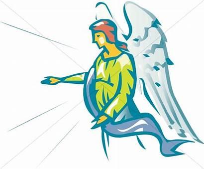 Angel Clipart Gabriel Ministering Archangel Church Sharefaith