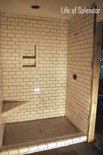 subway tile bathroom floor ideas 30 ideas for using subway tile in a shower