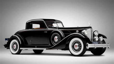 An Old Vintage Classic Black Car Automotive Hd Wallpaper