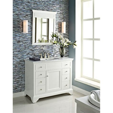 42 Bathroom Vanities - fairmont designs framingham 42 quot vanity polar white