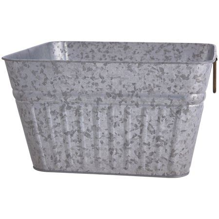Rectangle Galvanized Tub by Better Homes Gardens Galvanized Steel Square Tub 1 Each