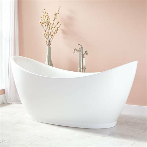 Freestanding Tub With by Signature Hardware 69 Quot Torben Acrylic Freestanding Tub Ebay
