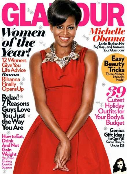 First Lady Dating Tips The Michelle Obama Glamour Spread