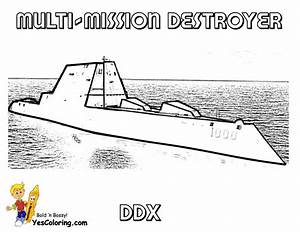 Unflinching Navy Ship Coloring Page
