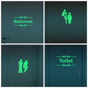 creative luminous wall stickers bathroom decoration toilet With glow in the dark vinyl lettering