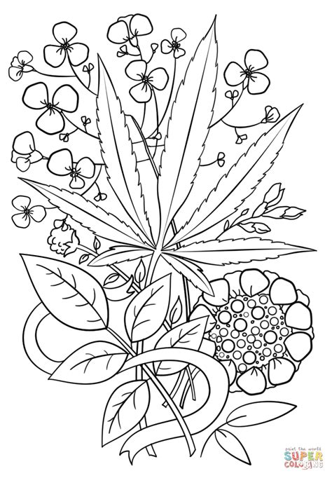 The best free Marijuana coloring page images. Download from 59 free coloring pages of Marijuana