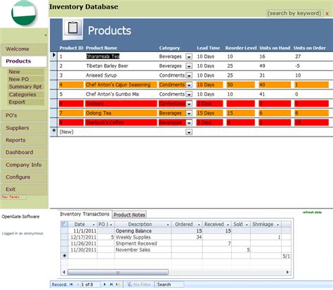 create base templates for multiple microsoft access inventory management template opengate