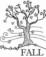 Coloring Fall Tree Leaves Pages Autumn Printable Falling Topcoloringpages Windy sketch template