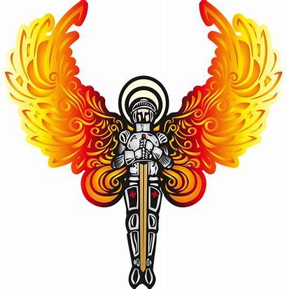 Angel Wings Male Character Background Warrior Knight