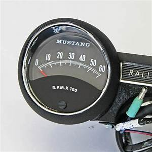 1965 Rally Pac V8 6000 Rpm Black Ford Mustang New In The