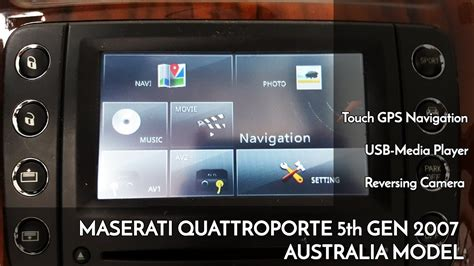 on board diagnostic system 2007 maserati quattroporte navigation system aus 2007 maserati quattroporte audio upgraded with touch gps navi reversing camera and dvd