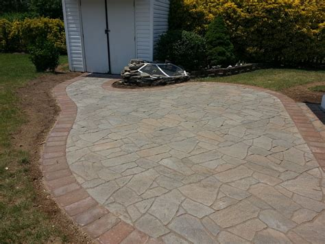 time pavers flagstone paver patio in bowie md