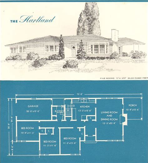 era houses  hartland vintage house plans architectural prints house blueprints
