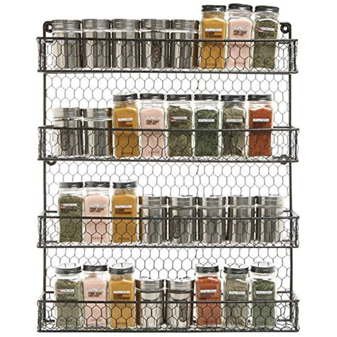 Spice Rack On Wall by 4 Tier Black Wire Pantry Cabinet Or Wall Mounted Spice