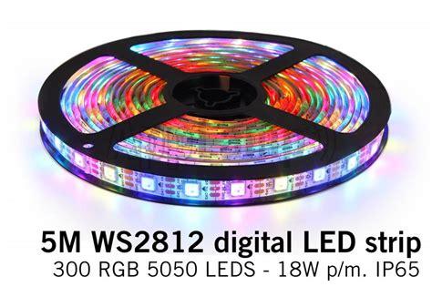 Dream Color Ws-2812 Rgb Digital Led Strip 5 Meter, 60 Leds