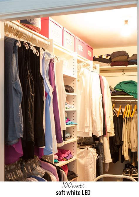 clothes closet lighting comparison in my own style