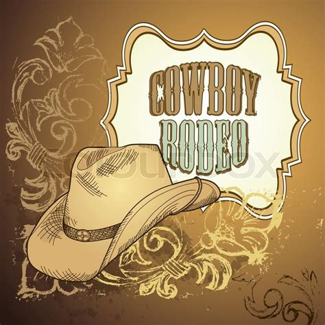 cowboy hat design stock vector colourbox