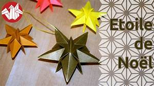 Origami Facile Noel : origami etoile de no l senbazuru youtube ~ Melissatoandfro.com Idées de Décoration