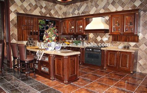 gabinete de cocina de madera cocina isla de estilo