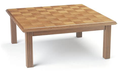 Made from walnut and sycamore. Bespoke Coffee table in oak | Makers' Eye
