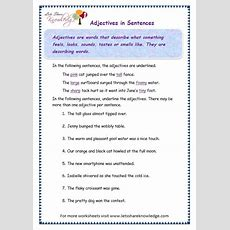 Grade 3 Grammar Topic 4 Adjectives Worksheets  Lets Share Knowledge
