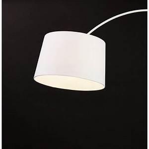 Lampe Sur Pied Design : lampe sur pied design aversa tissu blanc ~ Preciouscoupons.com Idées de Décoration