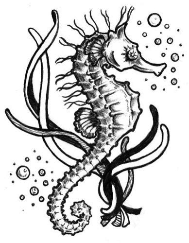 Seahorse Tattoo | Seahorses | Seahorse tattoo, Bubble tattoo, Tattoos