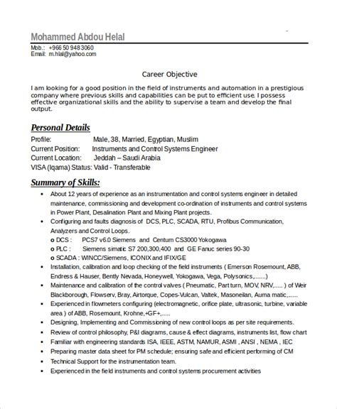 Electronics Service Engineer Resume Sles by Electronics Resume Template 8 Free Word Pdf Document Downloads Free Premium Templates