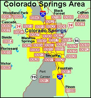 colorado springs zip code map colorado springs area code map arizona map